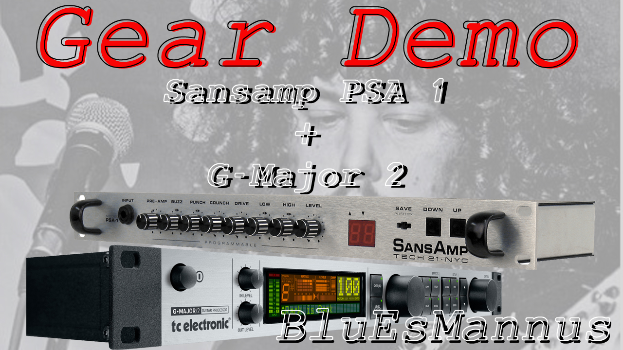 Rock Riffs and Licks - Demo on Sansamp PSA1 + TC G-Major 2
